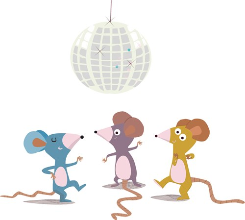 Mice at a disco