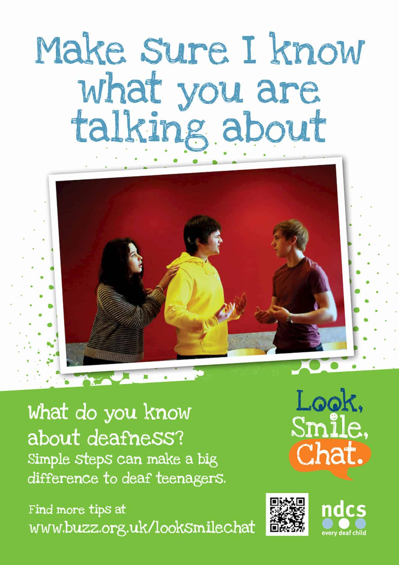 Look Smile Chat Poster- Make Sure I Know What You Are Talking About