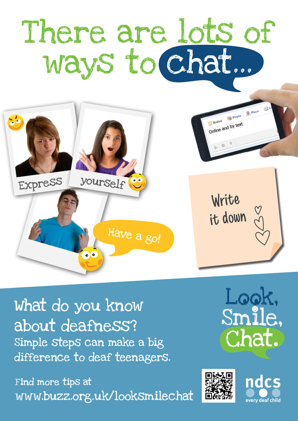 Look Smile Chat Poster - There Are Lots of Ways to Chat