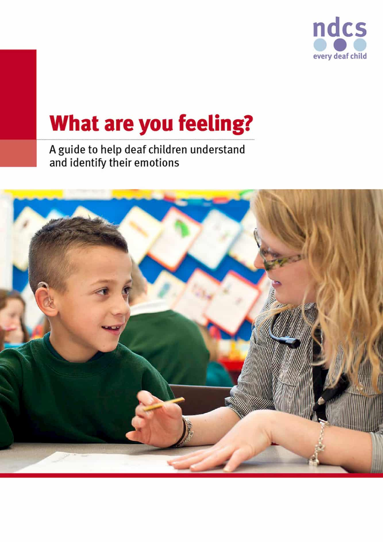What are you feeling? A guide to help deaf children understand and identify their emotions