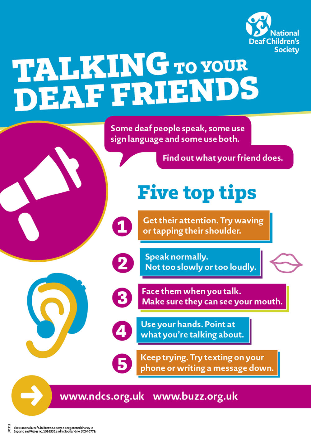 Talking to your deaf friends - poster