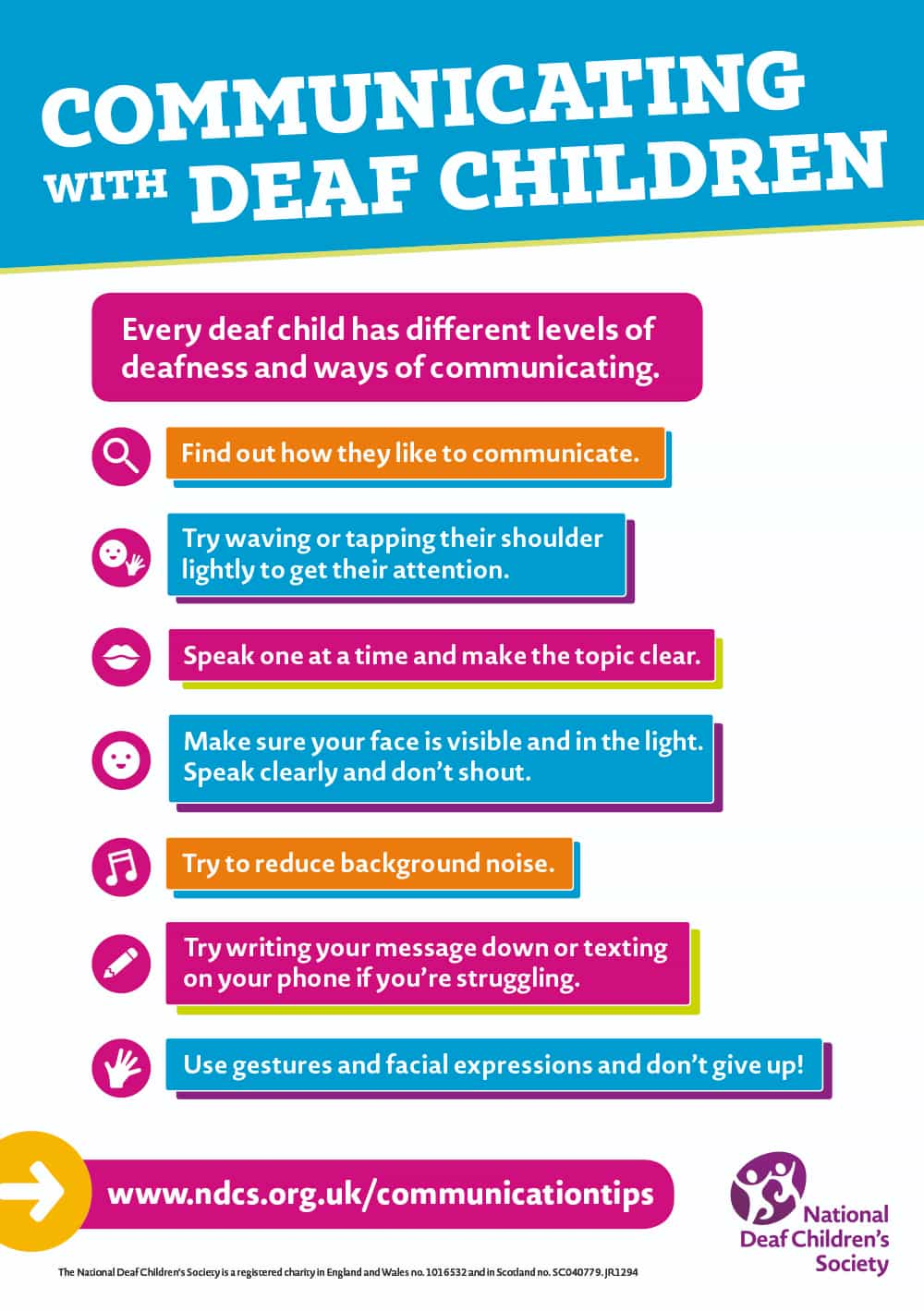 Communicating with Deaf Children flyer
