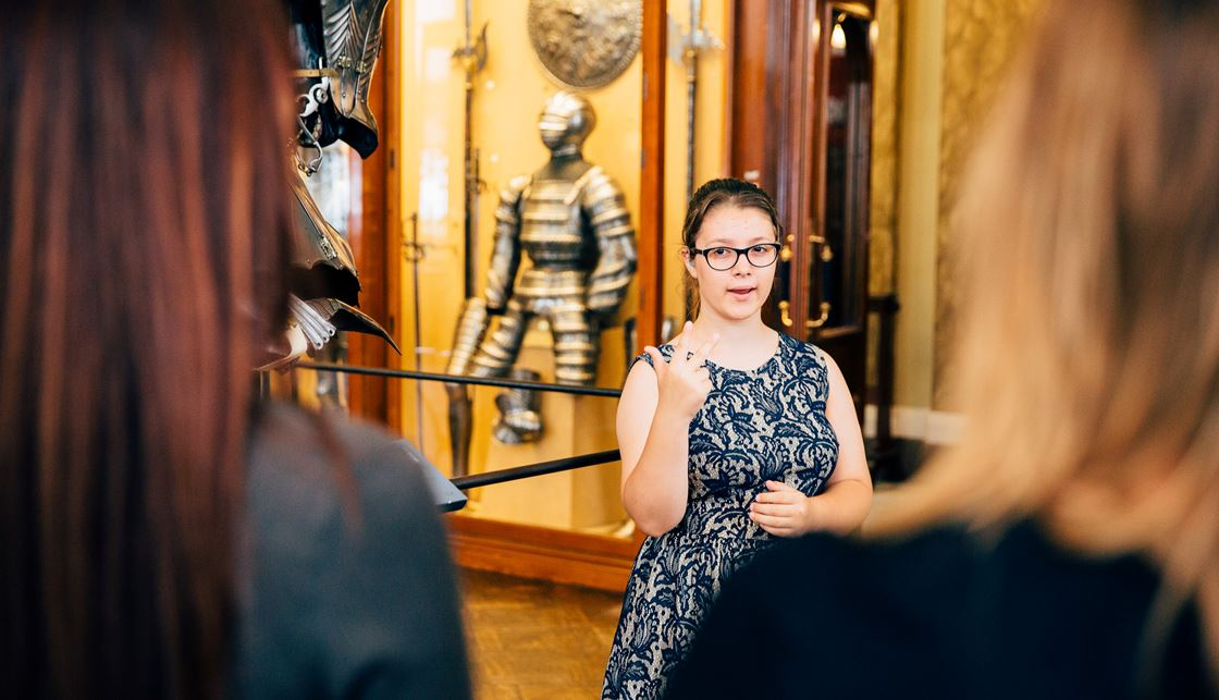 388ba8e08d Jovita (14) who is severely to profoundly Deaf has become a teen tour guide  for the Wallace Collection in London.